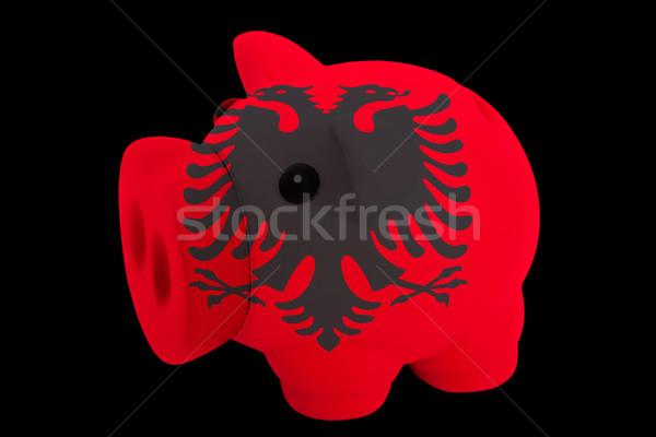Riche banque couleurs pavillon Albanie Photo stock © vepar5