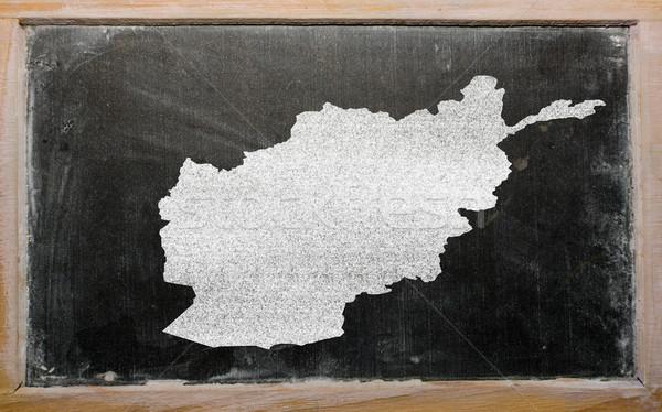 Skicc térkép Afganisztán iskolatábla rajz rajzolt Stock fotó © vepar5