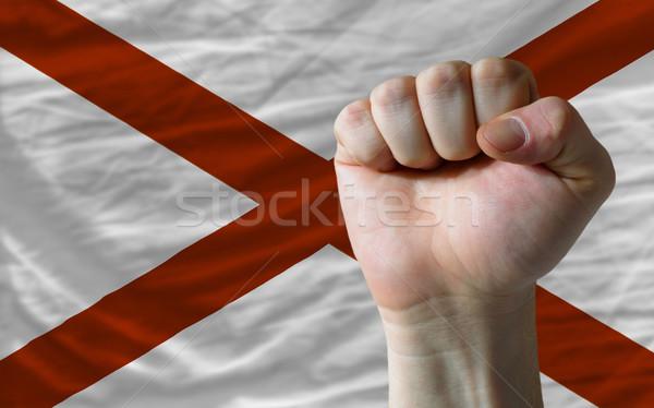 Bayrak Alabama yumruk amerikan bütün Stok fotoğraf © vepar5