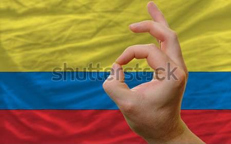 Ok kézmozdulat Arizona zászló férfi mutat Stock fotó © vepar5
