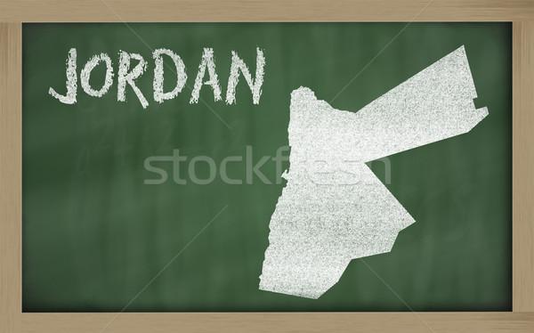 Pokaż Jordania tablicy rysunek Zdjęcia stock © vepar5