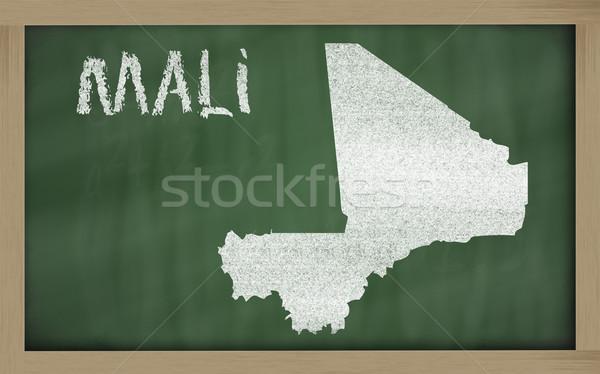 outline map of mali on blackboard  Stock photo © vepar5