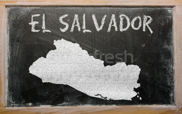 outline map of el salvador on blackboard  Stock photo © vepar5