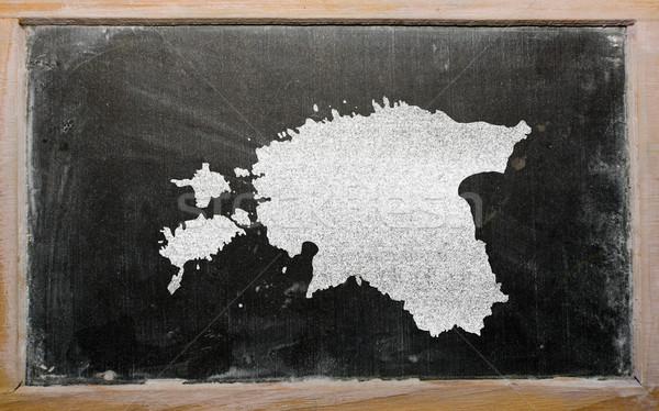 Mapa Estônia lousa desenho Foto stock © vepar5