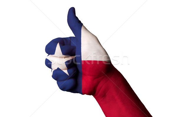 Texas Flagge Daumen up Geste Exzellenz Stock foto © vepar5