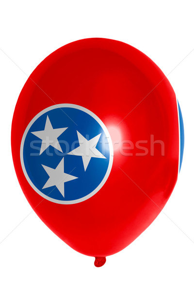 Balon kolorowy banderą amerykański Tennessee szczęśliwy Zdjęcia stock © vepar5