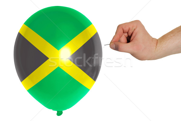 Bursting balloon colored in  national flag of jamaica    Stock photo © vepar5