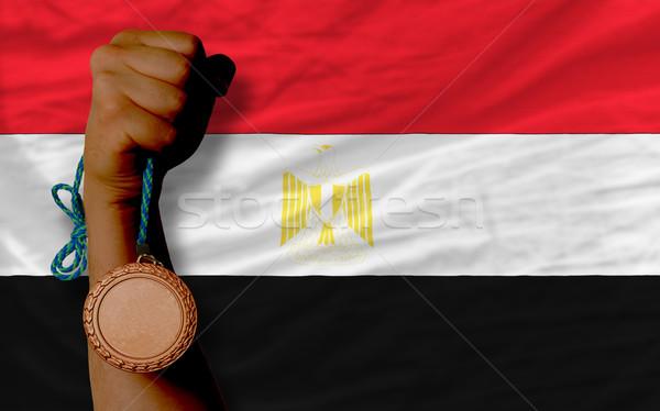 Bronze medal for sport and  national flag of egypt    Stock photo © vepar5