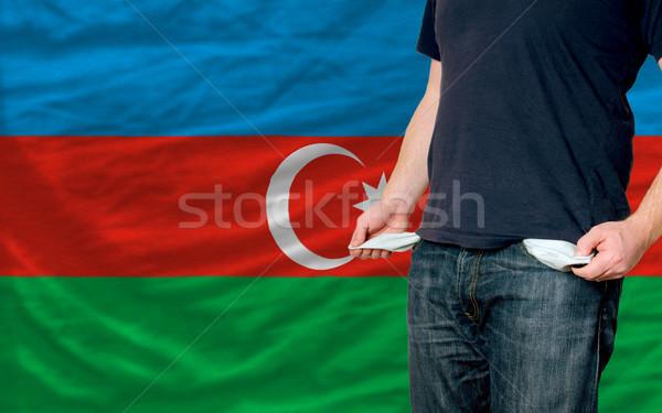 Recesión joven sociedad Azerbaiyán pobres hombre Foto stock © vepar5