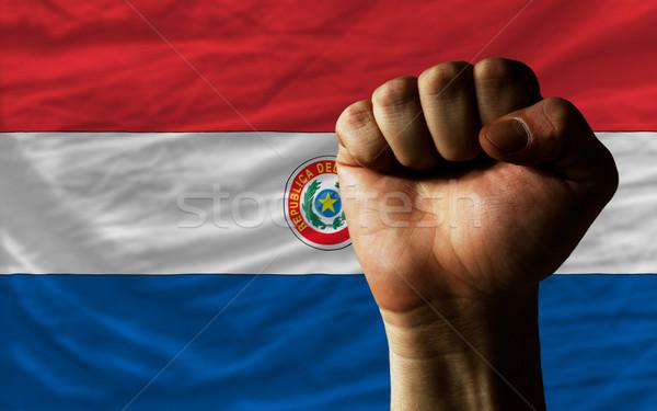 Pięść Paragwaj banderą moc całość Zdjęcia stock © vepar5