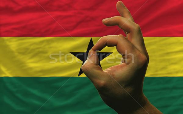 ok gesture in front of ghana national flag Stock photo © vepar5
