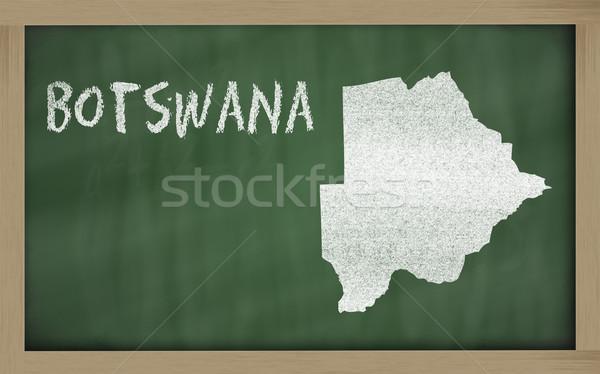 outline map of botswana on blackboard  Stock photo © vepar5