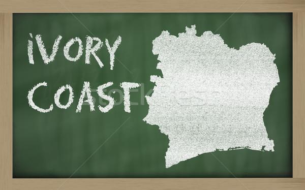 地図 象牙海岸 黒板 図面 ストックフォト © vepar5