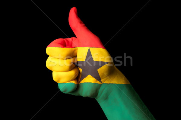 ghana national flag thumb up gesture for excellence and achievem Stock photo © vepar5