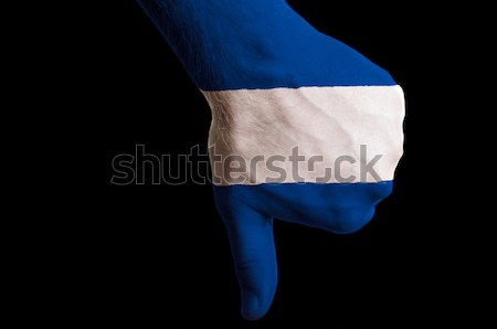 russia national flag thumb up gesture for excellence and achieve Stock photo © vepar5