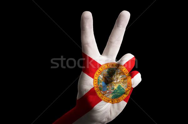 Flórida bandeira dois dedo para cima gesto Foto stock © vepar5