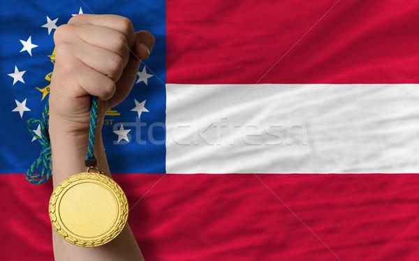 金メダル スポーツ フラグ アメリカン グルジア 勝者 ストックフォト © vepar5