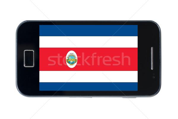 Okostelefon zászló telefon internet telefon képernyő Stock fotó © vepar5