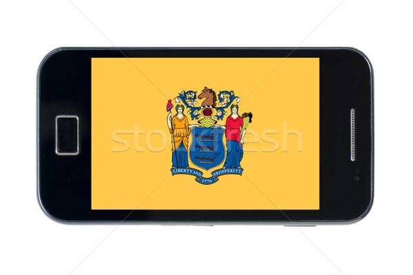Smartphone vlag amerikaanse New Jersey telefoon telefoon Stockfoto © vepar5