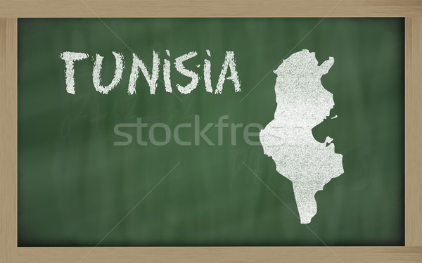Mapa Tunísia lousa desenho Foto stock © vepar5