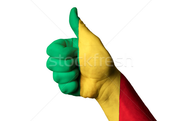 Mali bandiera pollice up gesto eccellenza Foto d'archivio © vepar5