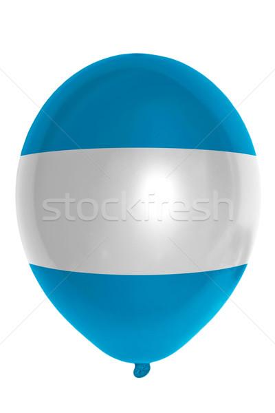 Balão bandeira El Salvador feliz viajar Foto stock © vepar5