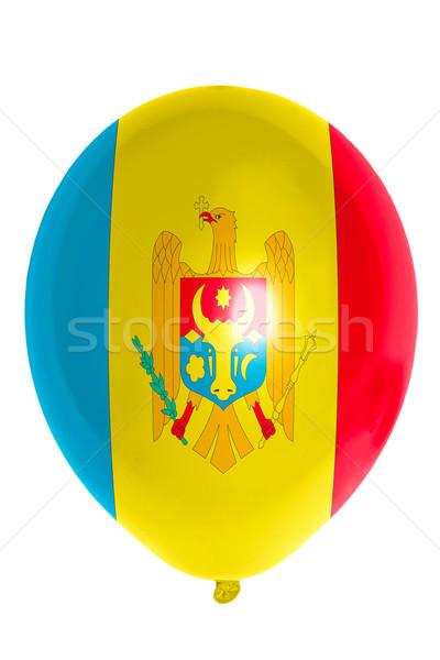 Léggömb színes zászló Moldova boldog utazás Stock fotó © vepar5