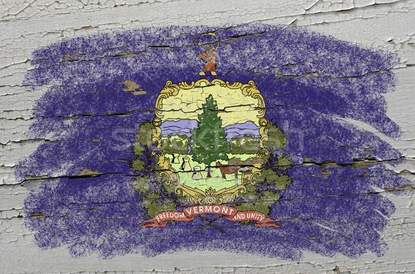 Bandeira Vermont grunge textura preciso Foto stock © vepar5