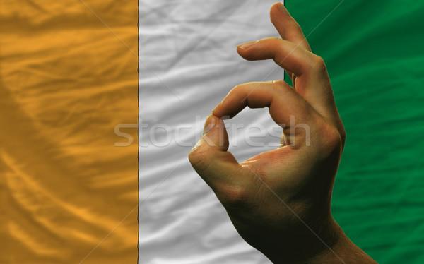 Gest Wybrzeże Kości Słoniowej banderą człowiek Zdjęcia stock © vepar5