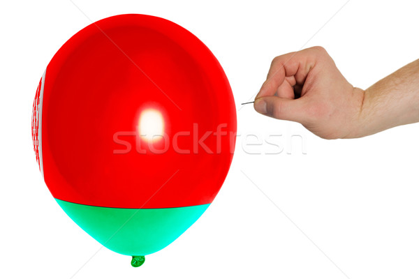 Bursting balloon colored in  national flag of belarus    Stock photo © vepar5