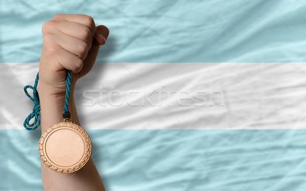 Bronze médaille sport pavillon Argentine Photo stock © vepar5