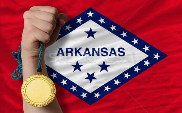 Aranyérem sport zászló amerikai Arkansas nyertes Stock fotó © vepar5