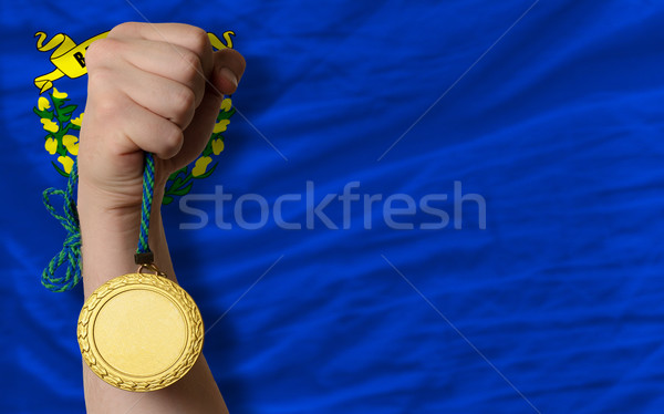 Medalha de ouro esportes bandeira americano Nevada vencedor Foto stock © vepar5