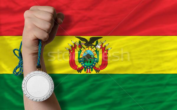 銀 金メダル スポーツ フラグ ボリビア ストックフォト © vepar5