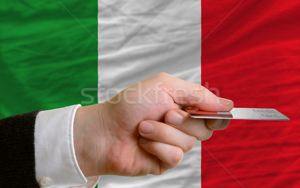 buying with credit card in italy Stock photo © vepar5