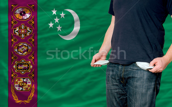 recession impact on young man and society in turkmenistan Stock photo © vepar5