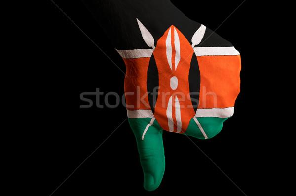 ケニア フラグ 親指 ダウン ジェスチャー 失敗 ストックフォト © vepar5