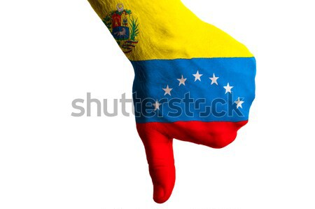 venezuela national flag thumbs down gesture for failure made wit Stock photo © vepar5