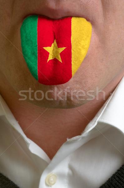 Hombre lengua pintado Camerún bandera conocimiento Foto stock © vepar5
