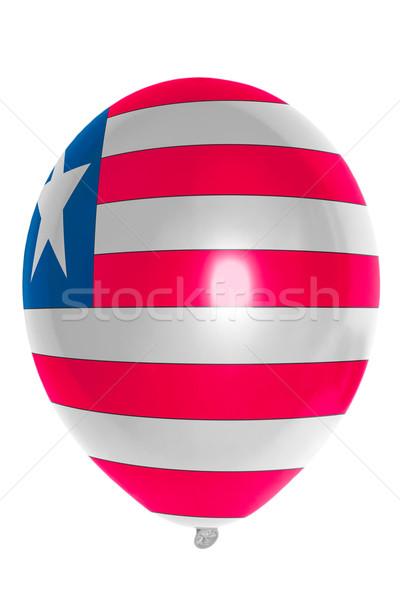 Léggömb színes zászló Libéria boldog utazás Stock fotó © vepar5