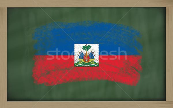 Vlag Haïti Blackboard geschilderd krijt kleur Stockfoto © vepar5