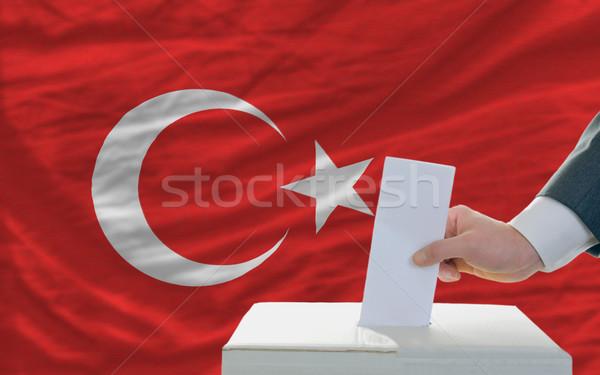 человека голосование выборы Турция голосование окна Сток-фото © vepar5