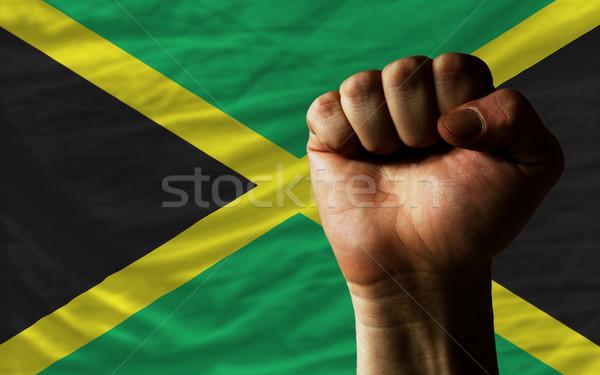 Punho Jamaica bandeira poder inteiro Foto stock © vepar5