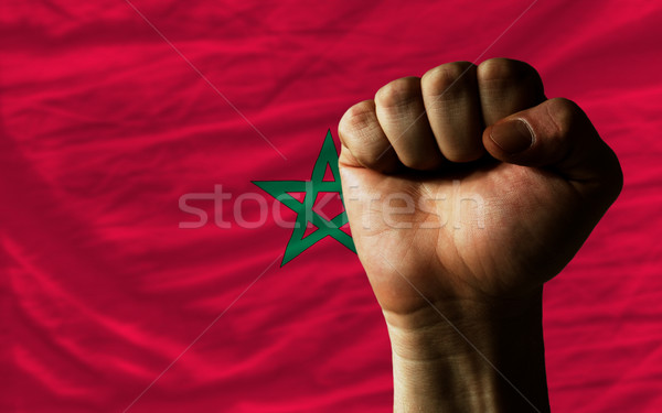 Punho Marrocos bandeira poder inteiro Foto stock © vepar5