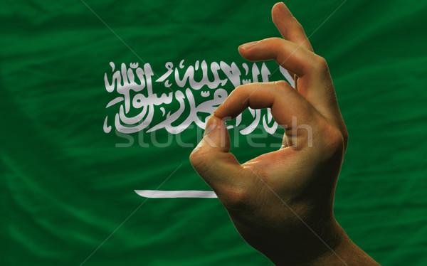 Gesto Arábia Saudita bandeira homem Foto stock © vepar5