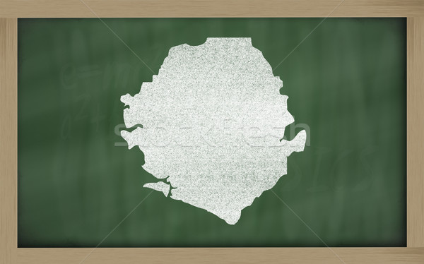 outline map of sierra leone on blackboard  Stock photo © vepar5