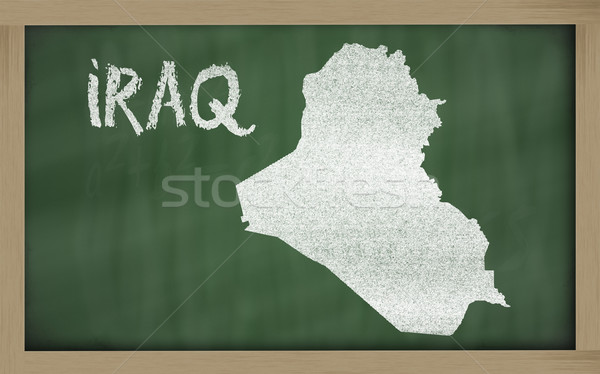 outline map of iraq on blackboard  Stock photo © vepar5