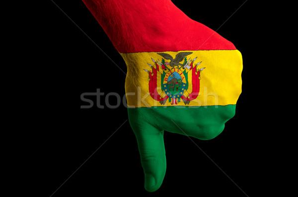 ボリビア フラグ 親指 ダウン ジェスチャー 失敗 ストックフォト © vepar5