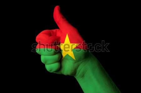 Burkina bandeira polegar para cima gesto excelência Foto stock © vepar5