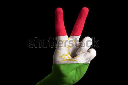 Colorado zászló kettő ujj felfelé kézmozdulat Stock fotó © vepar5